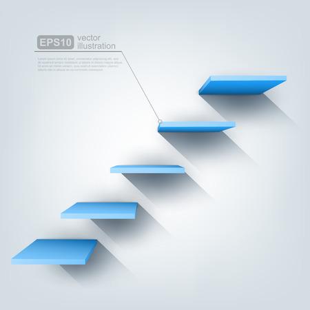 3d vector stairs 免版税图像 - 26380583