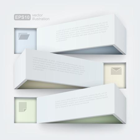 Abstract 3d frames Vector