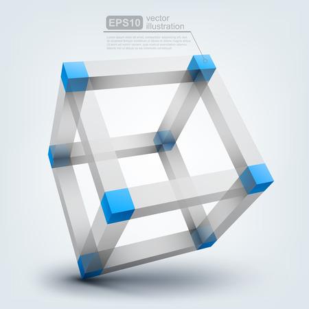 building blocks: Vector illustration of 3d cube Illustration