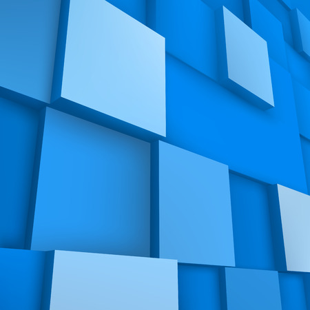 abstract 3d blocks: Vector background