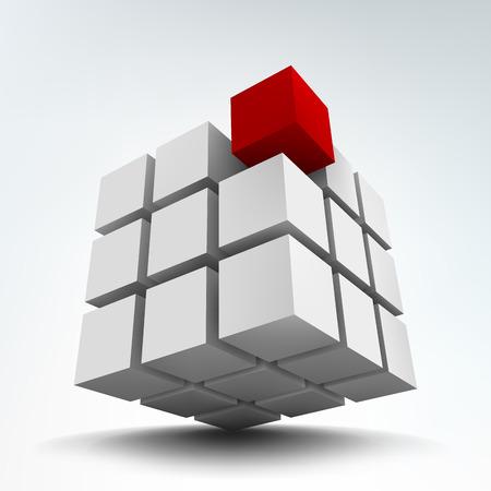 Ilustración de vector de cubos 3d