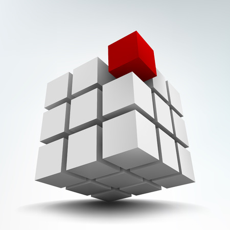 Vector illustration of 3d cubes Иллюстрация