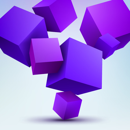 computer graphic: Vector illustration of 3d cubes Illustration