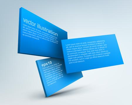 3d vector boards Illustration