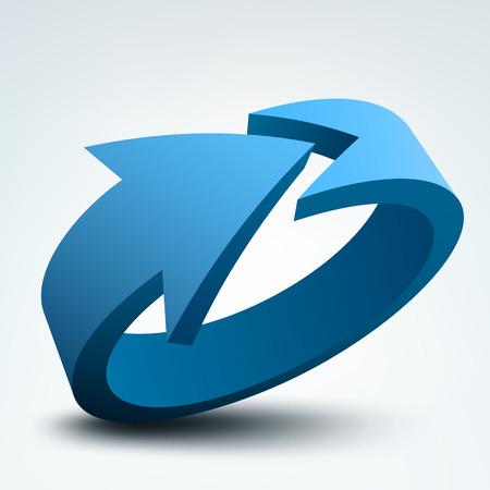 cycle arrows: Vector illustration of 3d arrow