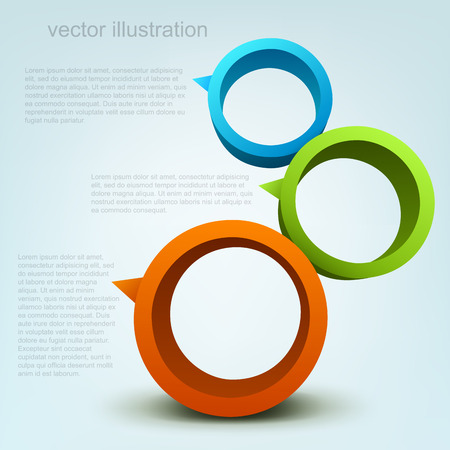 circle shape: Vector illustration of 3d rings