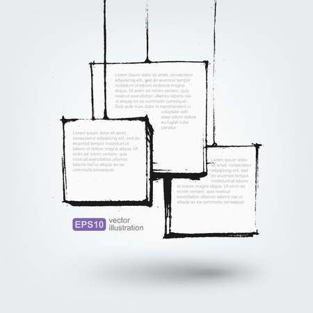 lapiz y papel: Vector elemento de dise�o. Dibujado a mano banderas en el fondo blanco Vectores