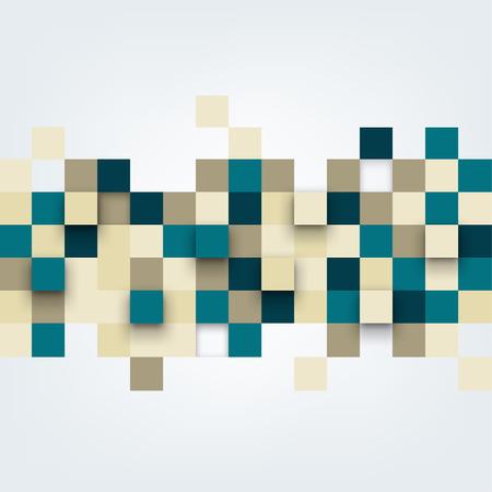 벡터 배경입니다. 추상 사각형의 그림입니다. 패턴 디자인 일러스트