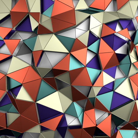 Abstract 3d rendering of colored surface.