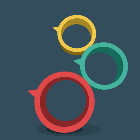 three pointer: Vector illustration of 3d rings. Design element for poster.
