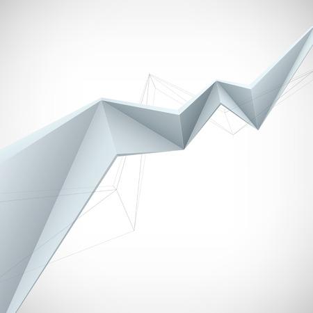 stylized design: Illustrazione di vettore, stile basso poli. Sfondo design con forma 3D. Elemento di design stilizzato per banner, poster, flyer, copertura, brochure.