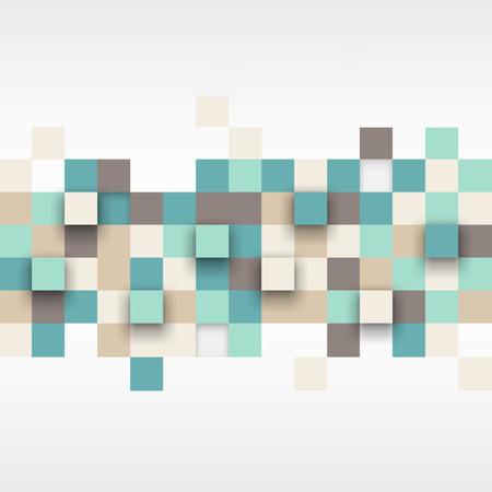 Vector achtergrond. Illustratie van abstracte structuur met vierkantjes. Patroon ontwerp voor de banner, poster, flyer. Stock Illustratie
