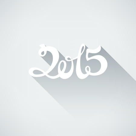 happy new year banner: Happy new year 2015. Abstract vector Illustration. Flat style number 2015 with shadow. Background for banner, poster, flyer.