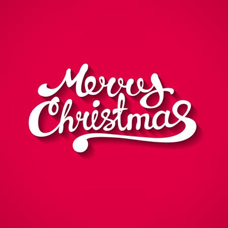 feliz: Ilustración de vectores de fondo. Estilo Flat texto Feliz Navidad con la sombra. Fondo para la bandera, cartel, folleto. Diseño de logotipo.