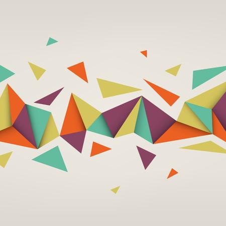 Vector de fondo. Ilustración de la textura abstracto con triángulos. Patrón de diseño para la bandera, cartel, folleto. Foto de archivo - 41158574