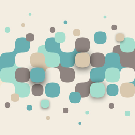 Vector de fondo. Ilustración de la textura abstracta con cuadrados. Patrón de diseño para la bandera, cartel, folleto. Foto de archivo - 41158972