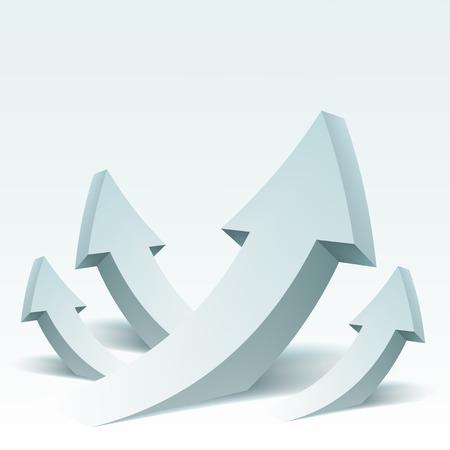 矢印のベクトル図を抽象化し、テキストの配置。背景バナー、チラシ、カバー、ポスター、パンフレットのデザイン。成功のコンセプト。