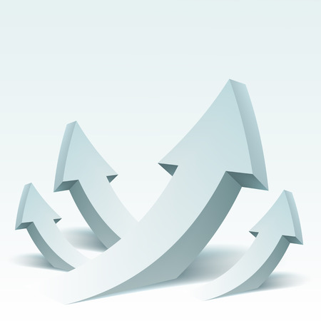 Abstract vector Illustration with arrows and place for text. Background design for banner, flyer, cover, poster, brochure. Concept of success.