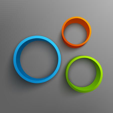 ring: Vector illustration of 3d rings. Background design for banner, poster, flyer.