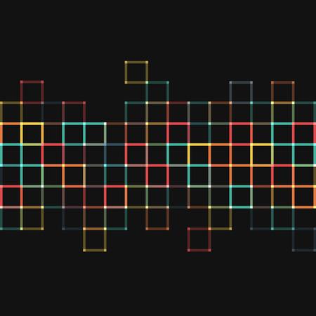Vector Hintergrund. Illustration der abstrakten Textur mit Quadraten. Pattern Design für Banner, Poster, Flyer. Standard-Bild - 41223309