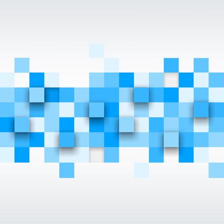 fondos azules: Vector de fondo. Ilustración de la textura abstracta con cuadrados. Patrón de diseño para la bandera, cartel, folleto. Vectores