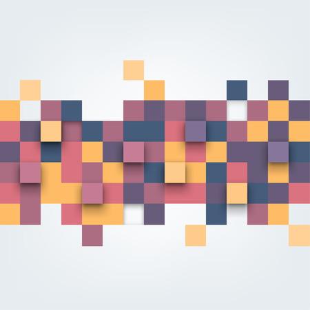 objetos cuadrados: Vector de fondo. Ilustraci�n de la textura abstracta con cuadrados. Patr�n de dise�o para la bandera, cartel, folleto. Vectores