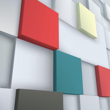 Abstract vector Illustration. Composition of 3d cubes. Background design for banner, poster, flyer. Logo design.