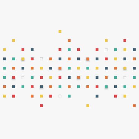 Vector Hintergrund. Illustration der abstrakten Textur mit Quadraten. Pattern Design für Banner, Poster, Flyer. Standard-Bild - 41294772