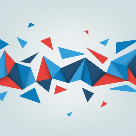 hintergrund: Vector Low-Poly Hintergrund. Illustration der abstrakten Textur mit Dreiecken. Muster Design für Banner, Poster, Flyer.