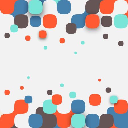 벡터 배경입니다. 사각형 추상 질감의 그림입니다. 배너, 포스터, 전단지에 대한 패턴 디자인. 스톡 콘텐츠 - 43080642