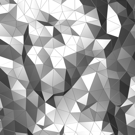 Abstract 3d rendering of chrome surface. Background with futuristic low poly shape. Фото со стока