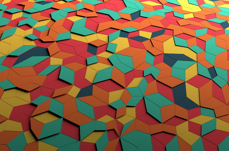 Abstract 3d rendering of colored surface. Colorful background. 写真素材