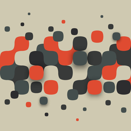 red square: Vector background. Illustration of abstract texture with squares. Pattern design for banner, poster, flyer.