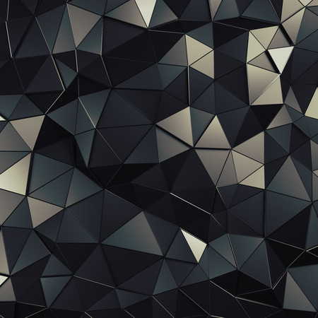 abstract shape: Abstract 3d rendering of dark surface. Background with futuristic polygonal shape.