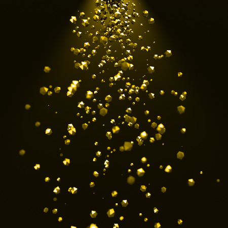 scifi: Abstract 3d rendering of chaotic particles. Sci-fi spheres in empty space. Futuristic background. Stock Photo