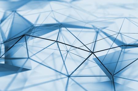 Abstract 3d rendu de la faible surface de poly. Arrière-plan avec forme polygonale futuriste. Banque d'images