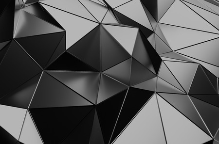 network connections: Abstract 3d rendering of dark surface. Background with futuristic polygonal shape.