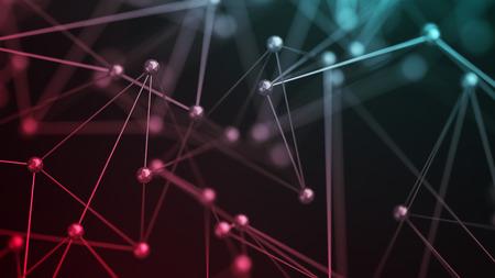Abstrakte Wiedergabe 3d von chaotischen Struktur . Plexus Hintergrund mit Linien und polygonalen Strukturen in leeren Raum . Futuristische Form . Modernes Konzept . Gestaltungselement für den Text . Leere Idee Standard-Bild - 67150479