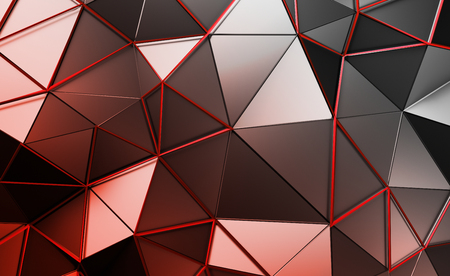 fractal background: Abstract 3d rendering of triangulated surface. Contemporary background. Futuristic polygonal shape. Distorted low poly backdrop with sharp lines.