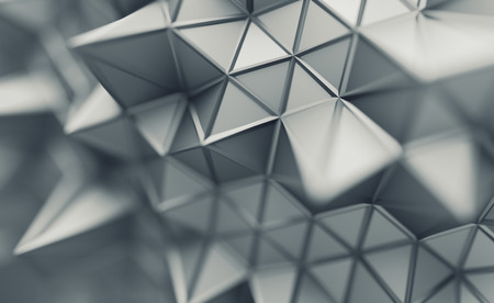 3d Line Design : Abstract d rendering of triangulated surface contemporary