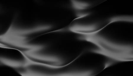 Abstract 3d rendering of smooth surface with ripples, cloth with waves, modern background design for poster, cover, branding, banner, placard Stock Photo
