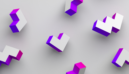 Abstract 3d rendering of geometric shapes. Modern background with simple forms. Minimalistic design for poster, cover, branding, banner, placard. Stock Photo