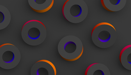 Abstract 3d rendering of geometric shapes. Modern colorful background. Minimalistic design for poster, cover, branding, banner, placard.