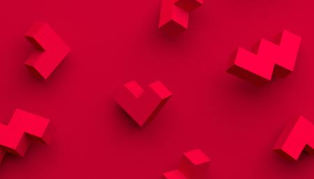 Rendu 3d abstrait de formes géométriques. Contexte moderne avec des formes simples. Conception minimaliste pour affiche, couverture, image de marque, bannière, pancarte.