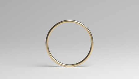 Abstract 3d rendering of a ring. Modern background with circle geometric shape. Minimalistic design for poster, cover, branding, banner, placard. Banco de Imagens - 97768501