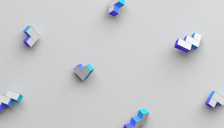 Resumen representación 3D de formas geométricas. Fondo moderno con formas simples. Diseño minimalista para póster, portada, marca, pancarta, cartel.