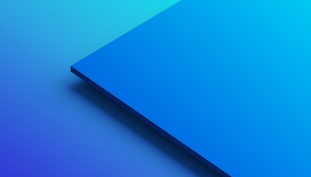 Abstract 3d rendering of a surface with gradient. Modern geometric background. Minimalistic design for poster, cover, branding, banner, placard. Banco de Imagens