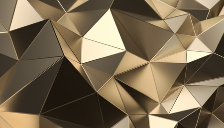 Abstract 3d rendering of triangulated surface. Modern background. Futuristic polygonal shape. Low poly minimalistic design for poster, cover, branding, banner, placard. Reklamní fotografie - 100400379