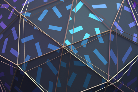 Abstract 3d rendering of geometric surface. Modern polygonal background design for poster, cover, branding, banner, placard. Stock Photo
