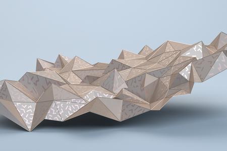 Representación 3d abstracta de superficie geométrica. Diseño de fondo poligonal moderno para cartel, portada, marca, pancarta, cartel.